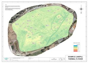 Landfill Thermal Mapping flyover