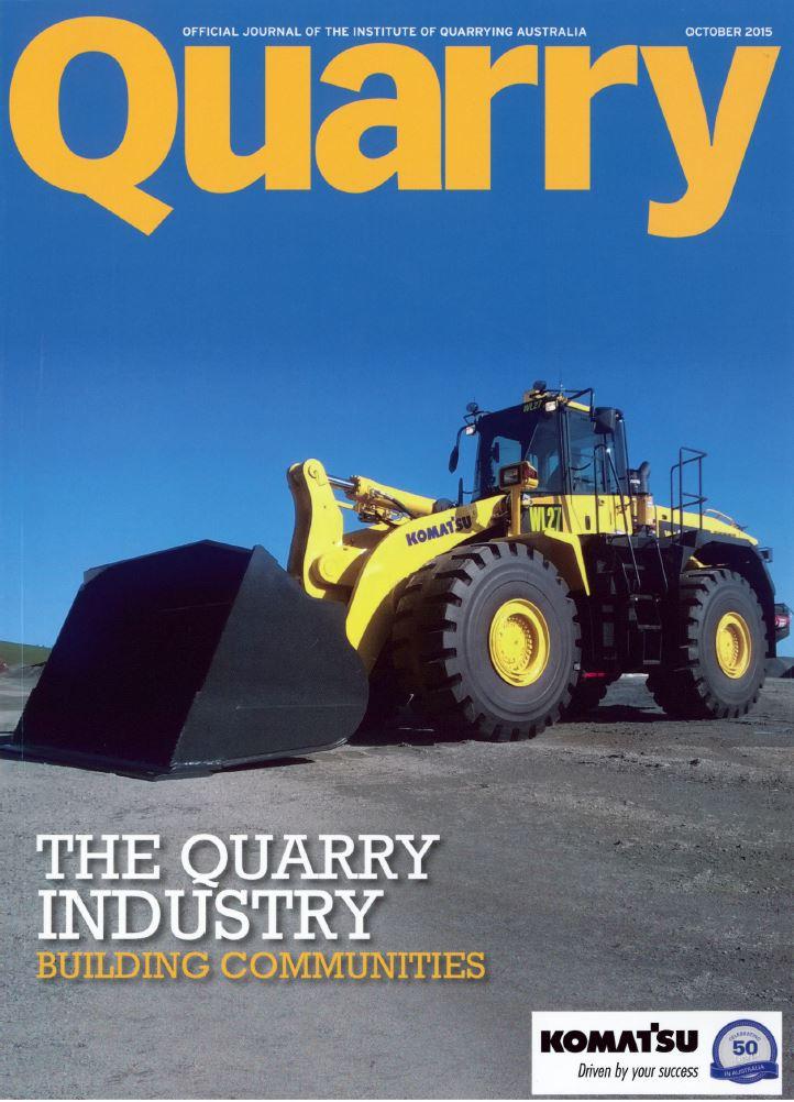 Quarry Magazine cover Oct 2015
