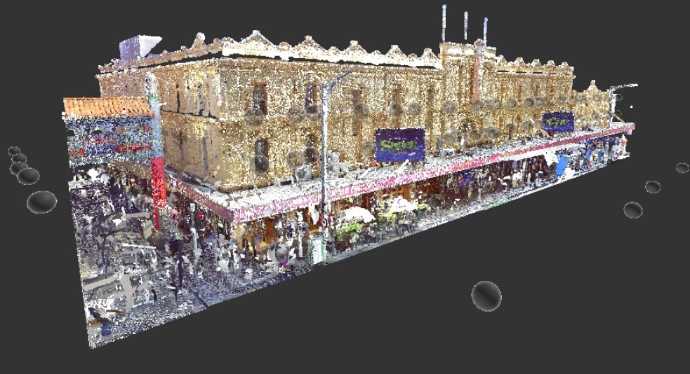 A full and detailed CAD drawing of Her Majesty's Theatre