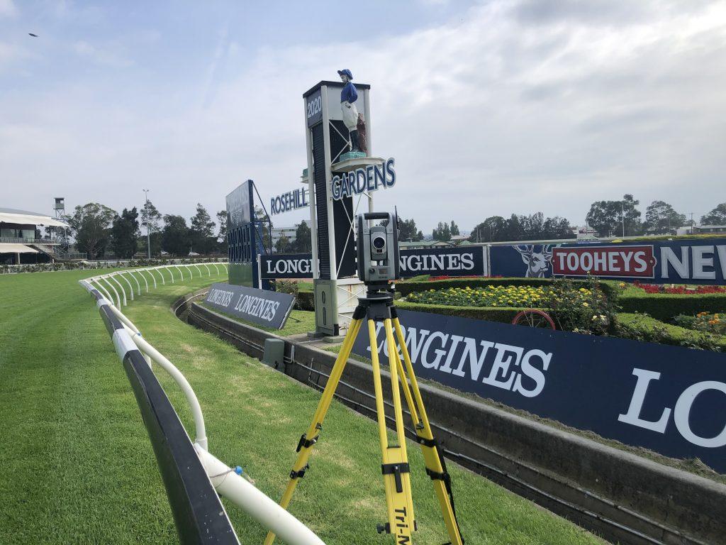 Surveying Equipment on Racecourse