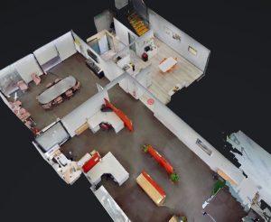 3D cutaway view